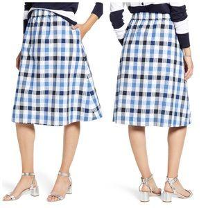 1901 Plaid Seersucker Cotton Skirt  Sz XXL (18 )